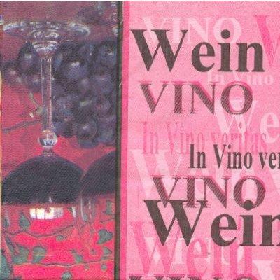 Serviette papier motif vin de 33 cm X 33 cm 3 plis
