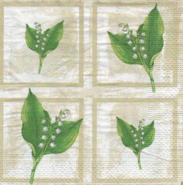 Serviette papier muguet 33 cm X 33 cm
