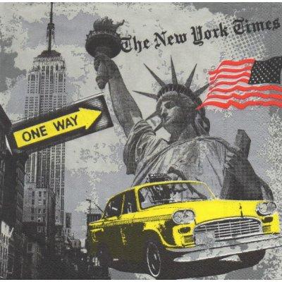 Serviette papier New York et taxis  33 cm X 33 cm 3 plis