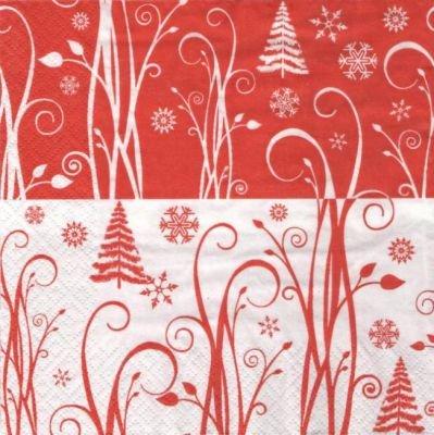 Serviette papier Noël et flocon 33 cm X 33 cm 3 plis