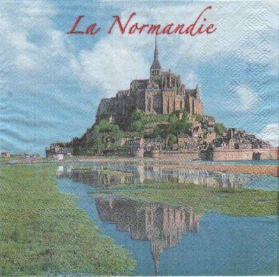 Serviette papier La Normandie 33 cm X 33 cm 2 plis