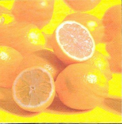 Serviette papier oranges 33cm X 33 cm 3 plis