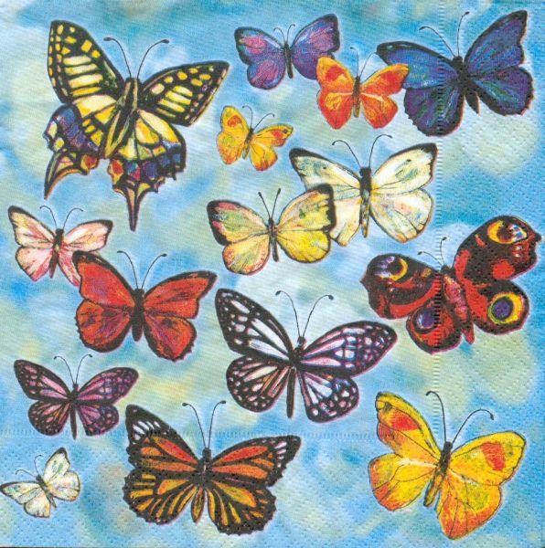 animaux serviette papier papillons 33 cm x 33 cm 3 plis. Black Bedroom Furniture Sets. Home Design Ideas