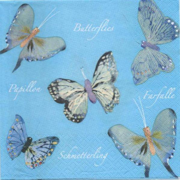 Serviette papier 5 papillons 33 cm X 33 cm 3 plis