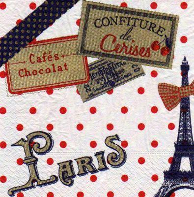 Serviette papier Paris Ancien 33 cm X 33 cm 3 plis