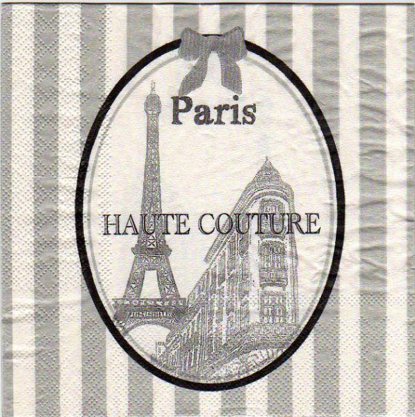 pays serviette papier paris haute couture 33 cm x 33 cm 3 plis. Black Bedroom Furniture Sets. Home Design Ideas
