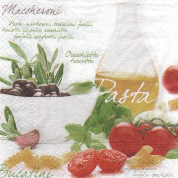 Serviette papier Pasta Bucatini de 33 cm X 33 cm 3 plis