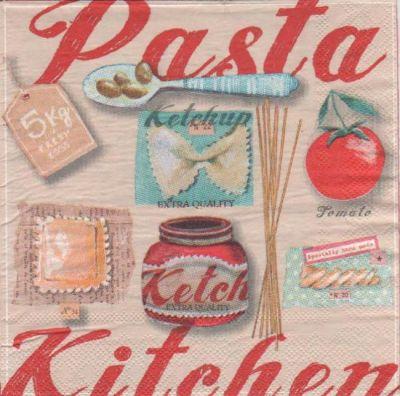 Serviette papier Pasta kitchen de 33 cm X 33 cm
