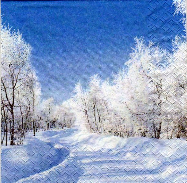 paysages serviette papier paysage hiver 33 cm x 33 cm 3 plis. Black Bedroom Furniture Sets. Home Design Ideas
