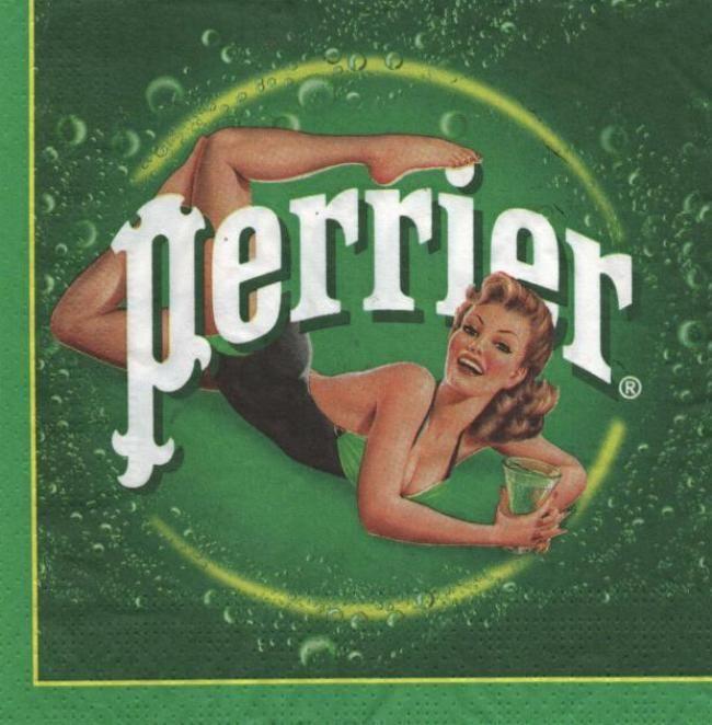 Publicit serviette papier perrier 33 cm x 33 cm 3 plis - Fournitures loisirs creatifs ...