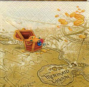 Serviette papier pirate et Peter Pan de 33 cm X 33 cm 3 plis