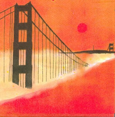 Serviette papier pont sur la rivière