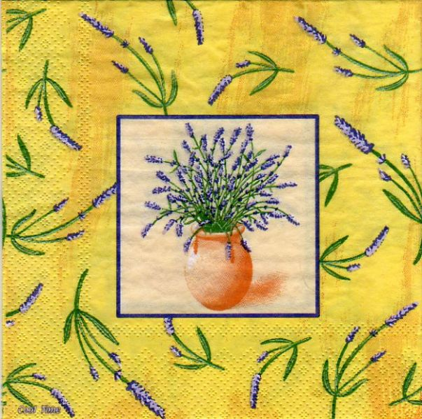 Serviette papier pot de lavande 33 cm X 33 cm 3 plis