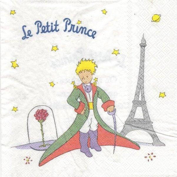 Serviette papier Le Petit Prince 33 cm X 33 cm 3 plis