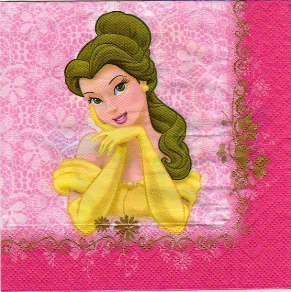 Serviette papier 2 princesses de 33 cm X 33 cm 3 plis