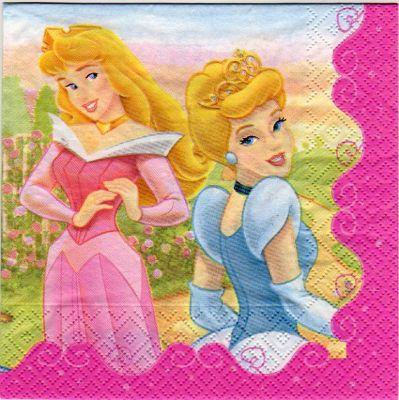 Serviette papier 4 princesses de 33 cm X 33 cm 3 plis
