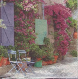 Serviette papier Provence et santons 33 cm X 33 cm 3 plis