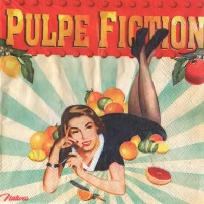 Serviette papier Pulpe Fiction 33 cm X 33 cm 2 plis