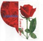 Serviette papier rose et love 33 cm x 33 cm 3 plis