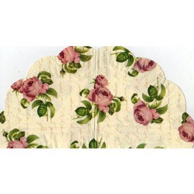 Serviette papier roses fleur 32 cm X 32 cm 3 plis