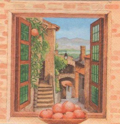 Serviette papier Sud et fruits 33 cm X 33 cm 3 plis