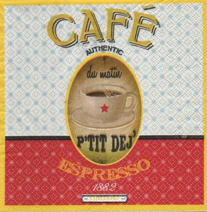 Serviette papier thé ou café 33 cm X 33 cm 3 plis