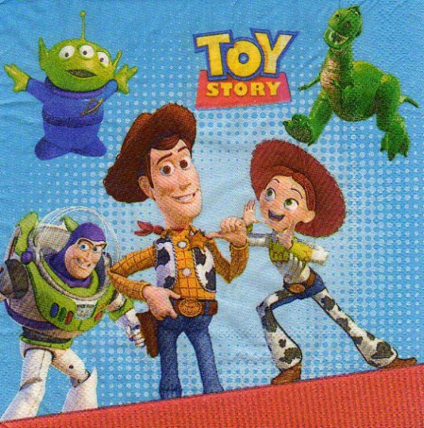 Serviette papier Toy Story 2 de 33 cm X 33 cm 2 plis