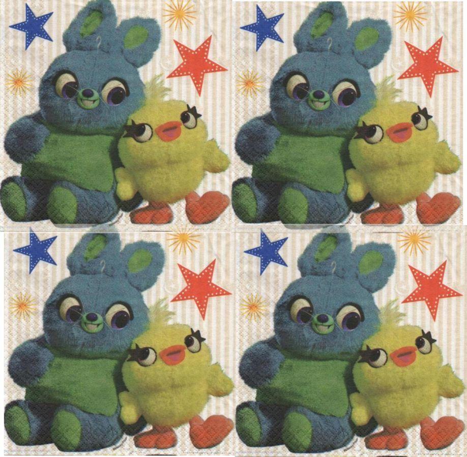 Serviette papier Toy Story 4 de 33 cm X 33 cm 2 plis