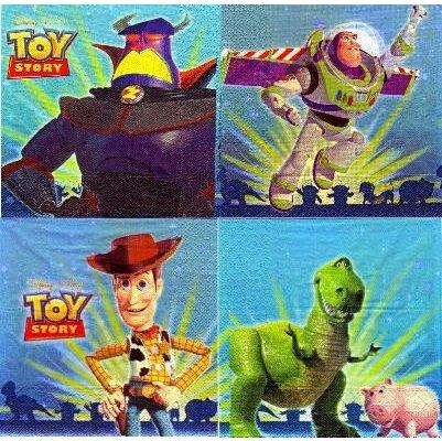 Serviette papier Toy Story de 33 cm X 33 cm 2 plis