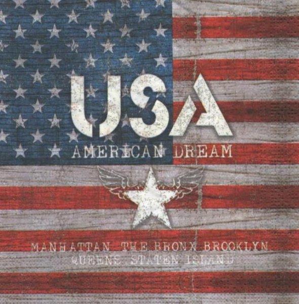 Serviette papier USA 33 cm X 33 cm 3 plis