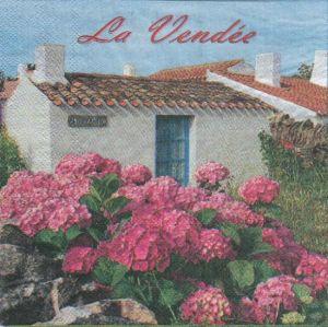 Serviette papier La Vendée 33 cm X 33 cm 2 plis