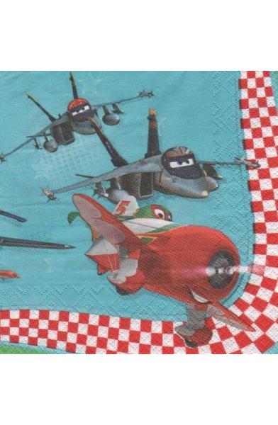 Serviette Planes de 33 cm X 33 cm 2 plis