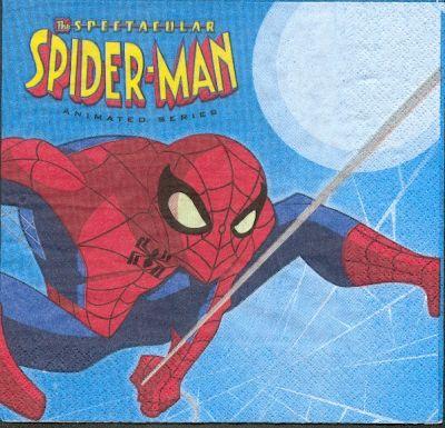 Serviette Spiderman de 33 cm X 33 cm 2 plis