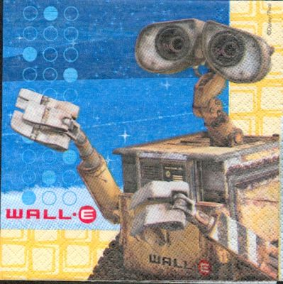 Serviette Wall E de 33 cm X 33 cm 2 plis