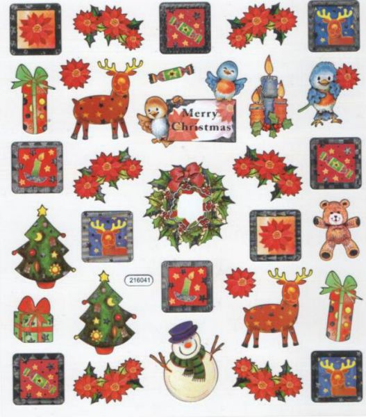 Sticker Noël et Merry Christmas
