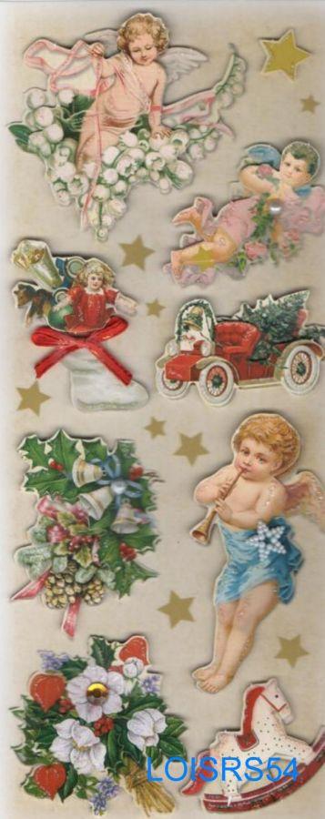 Stickers 3D autocollant anges de Noël pour décoration