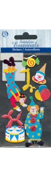 Stickers 3D clown et cirque