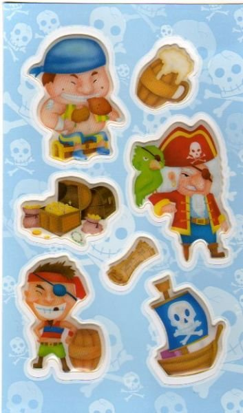 Stickers 3D coffre pirate