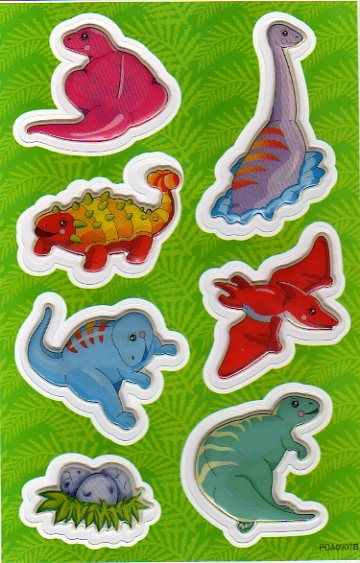 Stickers 3D dinosaures