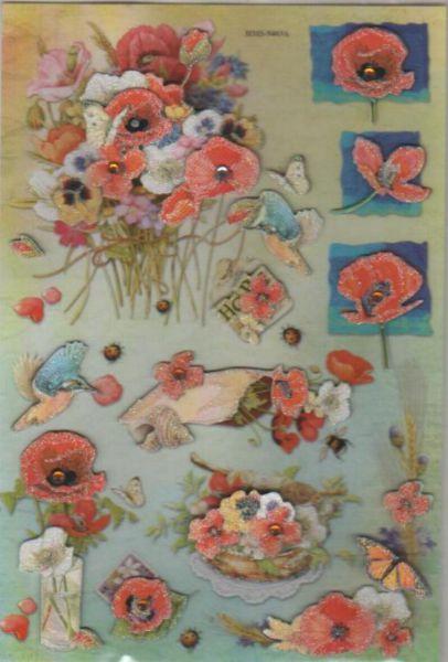 Stickers stickers 3d fleurs - Fournitures loisirs creatifs ...