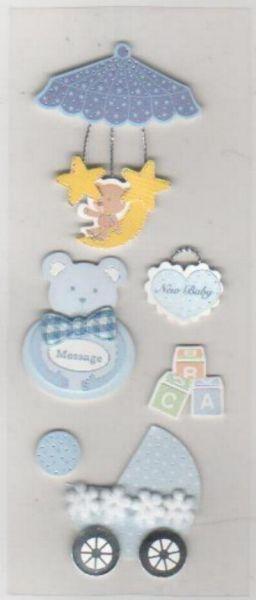 Stickers 3D naissance bébé