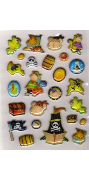 Stickers 3D Pirates