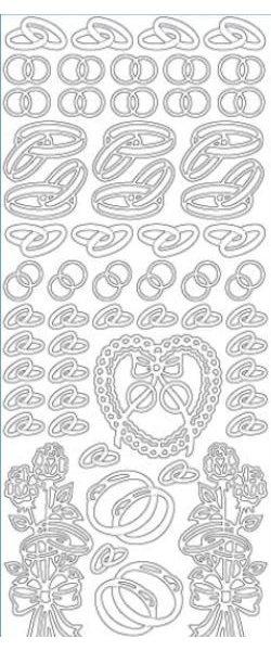 Stickers alliance couleur argent 230 mm x 100 mm