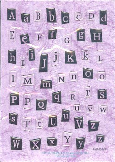 Stickers stickers alphabets - Fourniture loisirs creatifs ...