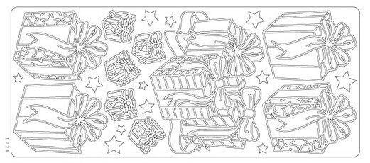 Stickers Cadeaux 230 mm x 100 mm