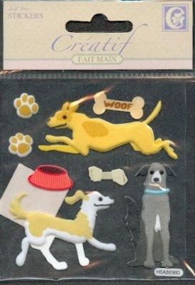 Stickers 3 D chien
