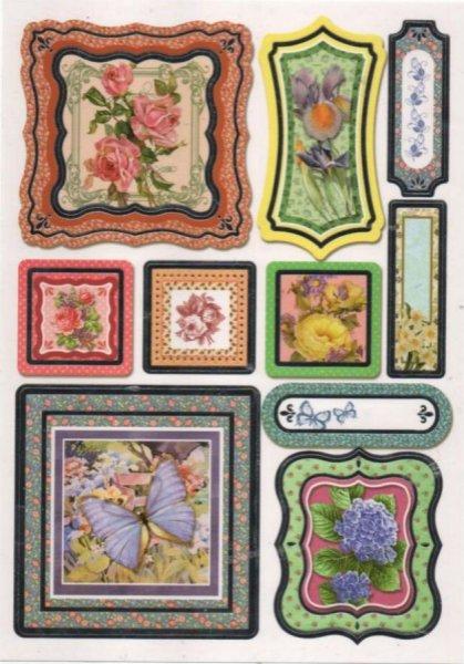 Stickers fleurs et roses autocollants pour scrapbooking