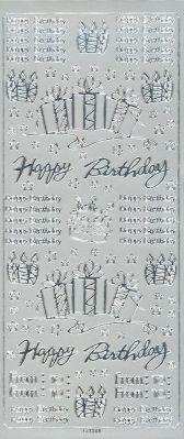 Stickers Happy Birthday 230 mm x 100 mm