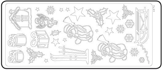Stickers hiver 230 mm x 100 mm