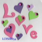 Stickers love autocollant mousse pour décoration